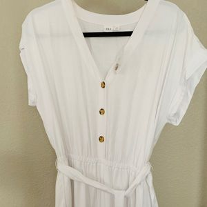 GAP Short Sleeve Button-Front Jumpsuit